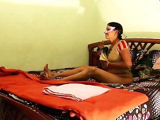 Sexy Desi Horny Bhabhi Amrita With Youthful Paramour Sultry Fu