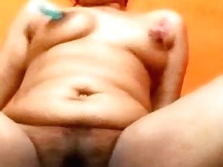 Aunty Frigging Labia With Nips Clampled